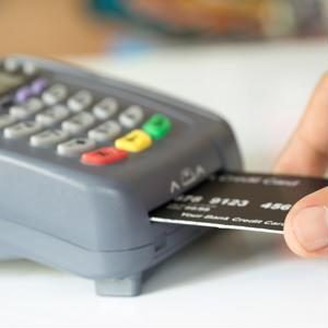 After you insert your card, how should you authenticate the payment?