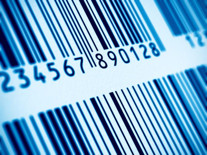 A barcode label.