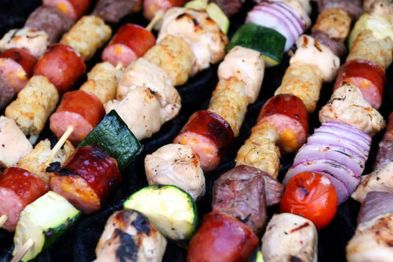 Vegetable kebabs are an eco-friendly alternative to red meat.