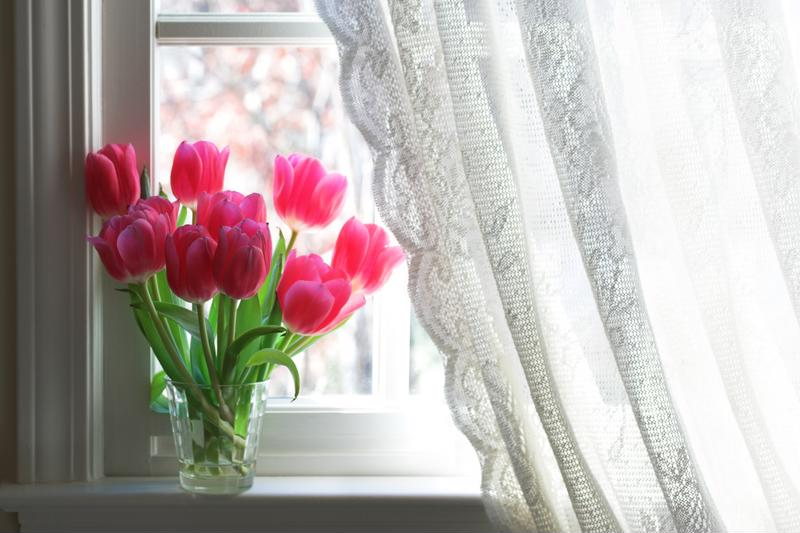 Flowers bring a little bit of springtime into the home
