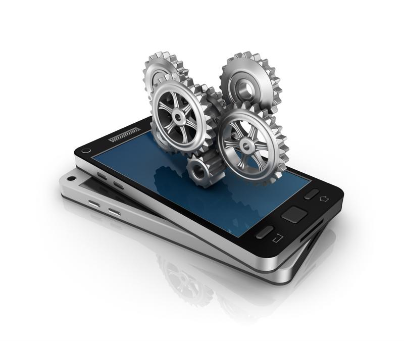 phone with gears