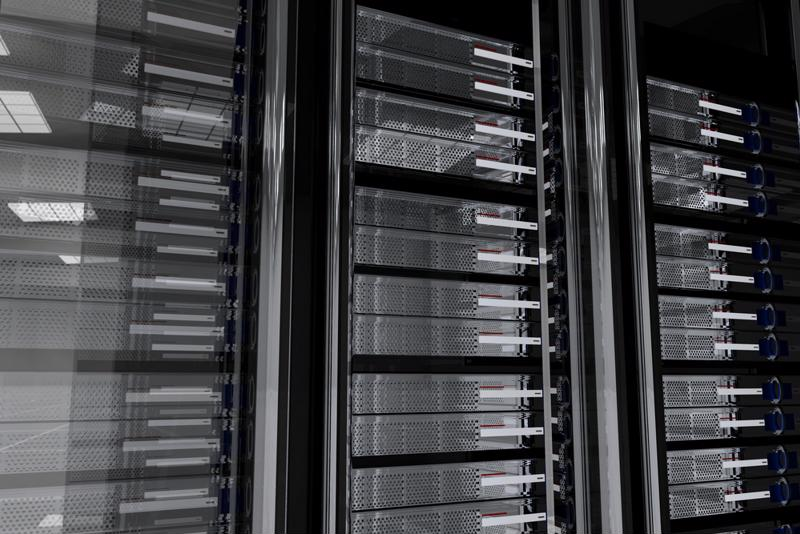 When designing your data center, pinpoint locations with open spaces for server arrays and support systems.