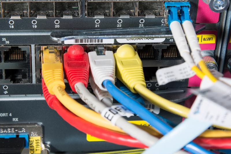 Labeling your cable will make sever management easier.