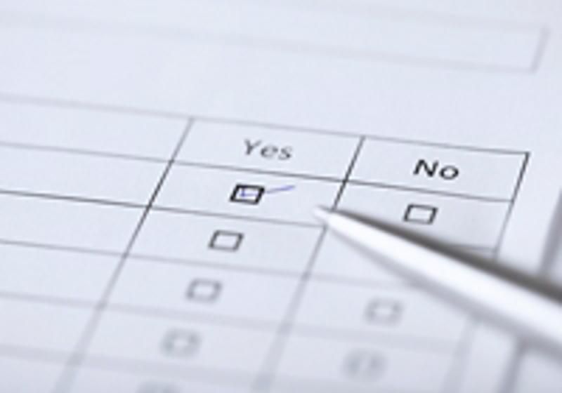 """Yes"" and ""No"" columns in a checklist."