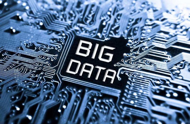 "The words ""big data"" imposed on a circuit board."