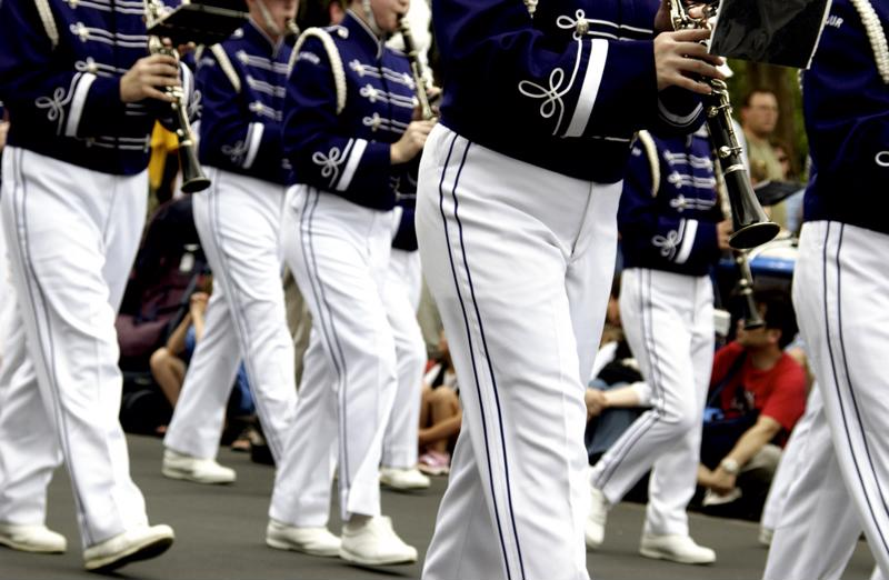 Pack a marching band uniform that is ready to wear.