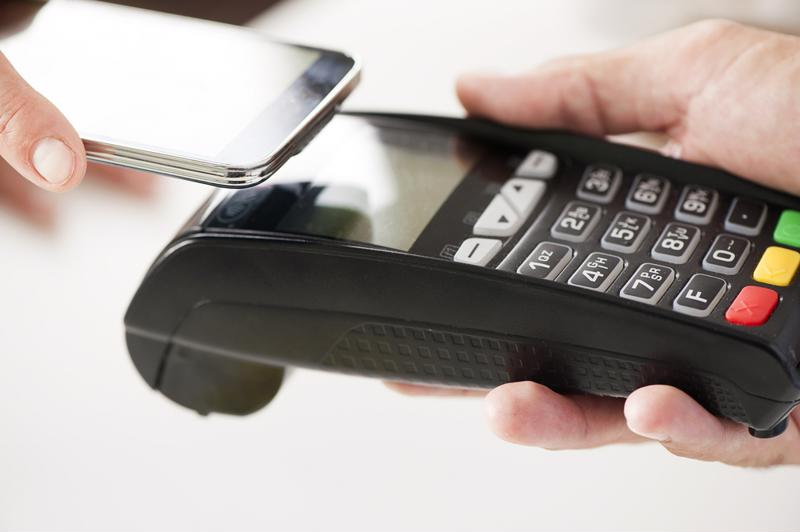 Customers paying with mobile wallets or contactless cards can simply tap and go.