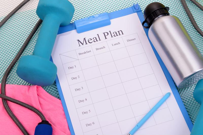 A meal plan and sports equipment.