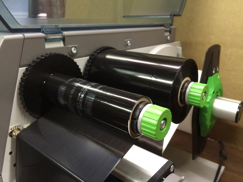 Here is an example of a high-quality thermal transfer label ribbon printer.